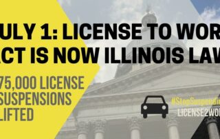Graphic stating license to work act is now law July 1